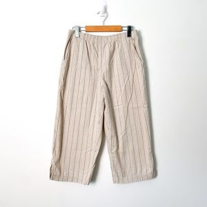 Vintage Pin Striped Palazzo Contemporary Tan Beige Pants
